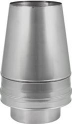 DW Ø 130 mm (130/230) Conische top I316L/I304 (D0,5/0,6)