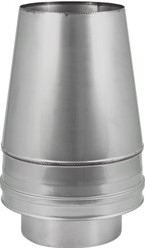 DW Ø 180 mm (180/280) Conische top I316L/I304 (D0,5/0,6)