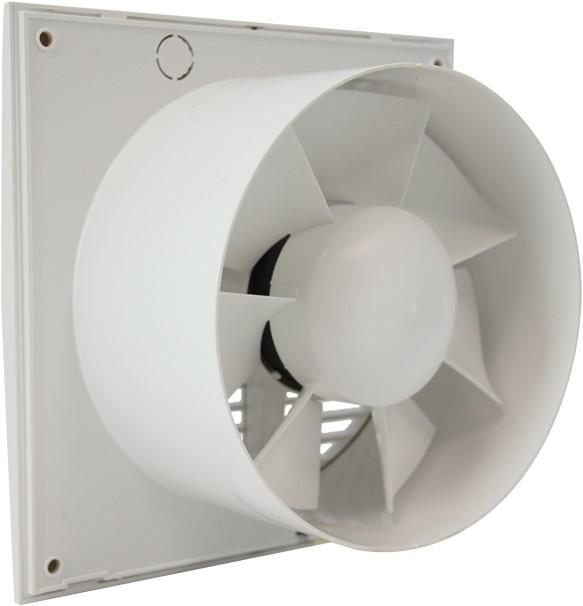 Badkamer Ventilator 100 Mm Wit Met Timer En Vochtsensor Ee100ht Bij Ventilatieland Nl