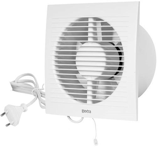 Badkamer ventilator diameter 125 mm WIT met Trekkoord en stekker - EE125WP