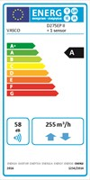 Energielabel Vasco D275EP II 1 Sensor