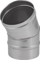 Kachelpijp Ø 250 mm RVS enkelwandige bocht 30°