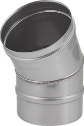 Kachelpijp Ø 500 mm RVS enkelwandige bocht 30°