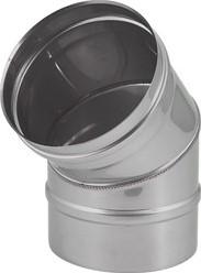 Kachelpijp Ø 100 mm RVS enkelwandige bocht 45°