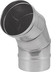 Kachelpijp Ø 150 mm RVS enkelwandige bocht 60°