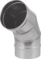 Kachelpijp Ø 400 mm RVS enkelwandige bocht 60°