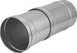 EW Ø 130 mm buis schuifstuk I316L (D0,5)