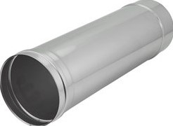 Kachelpijp Ø 300 mm RVS enkelwandig - L = 1000 mm