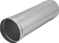 Kachelpijp Ø 180 mm RVS enkelwandig - L = 500 mm