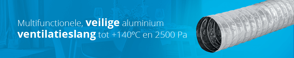Aludec is een veilige en multifunctionele flexibele aluminium ventilatieslang