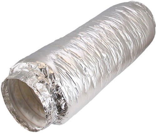 Flexibele geluiddemper non-woven met aansluiting diameter 100 mm lengte 500mm