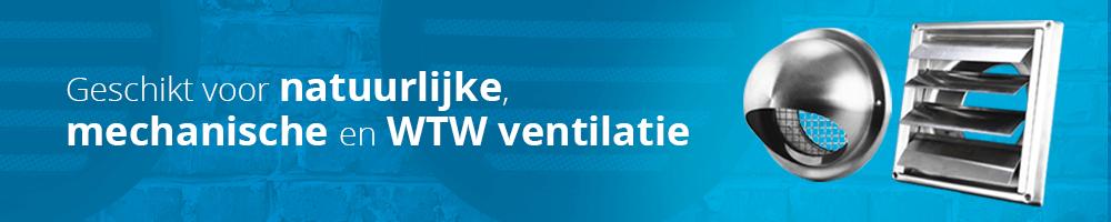 Ventilatie gevelroosters van ventilatieland zijn geschikt voor afvoer en toevoer van mechanische en natuurlijke ventilatie
