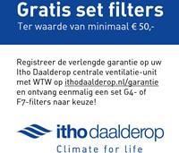 Itho WTW unit HRU Eco Fan Bal RFT Hoogbouw 325m3/h - euro stekker-3