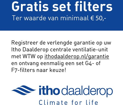 Itho WTW unit HRU Filters gratis