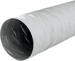 Greydec polyester ventilatieslang Ø 165 mm grijs (1 meter) (uitlopend)
