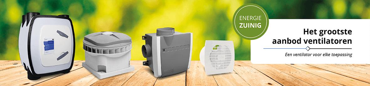 Ruim assortiment energziezuinige ventilatoren voor elke toepassing