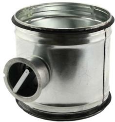 Handbediende regelklep Ø125mm voor spirobuis