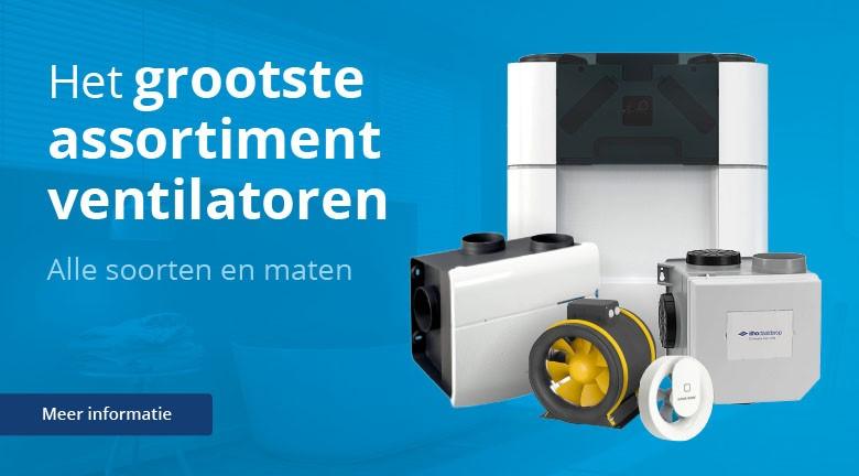 Het grootste assortiment ventilatoren van Nederland. Al meer dan 15 jaar de ventilatiespecialist.