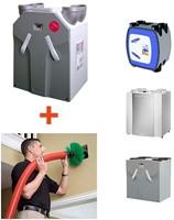 Installatie WTW unit + borstelreinigen ventilatiekanalen en roosters + inregelen