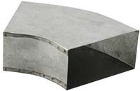 Instort ventilatiekanaal bocht 45 graden 165x80 horizontaal-1