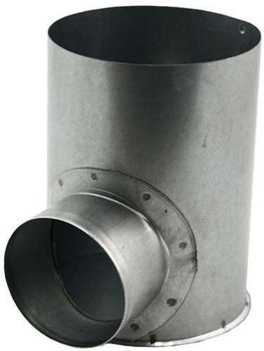 Gegalvaniseerde instortpot Ø150mm - enkele aftakking Ø80mm