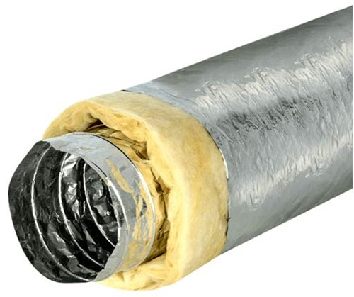 Isodec thermisch geisoleerde Ø102 mm ventilatieslang (10 meter)
