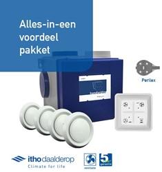 Itho alles-in-een pakket perilex - Itho cve SP 325m3/h + rft bediening + 4 ventielen