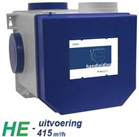 Itho alles-in-een pakket euro stekker - Itho cve HE 415m3/h + rft bediening + 4 ventielen-2