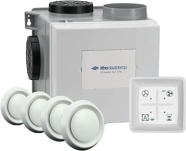 Itho Ventilator Badkamer : Itho cve s eco ventilatiepakket se m h vochtsensor rft