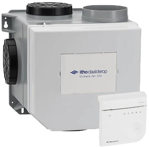 Itho Daalderop CVE-S S CO2 Optima pakket HE 415m3/h + ingebouwde RV vochtsensor + CO2 bediening - euro stekker