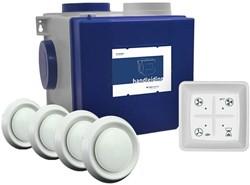 Itho alles-in-een pakket euro stekker - Itho cve HE 415m3/h + rft bediening + 4 ventielen