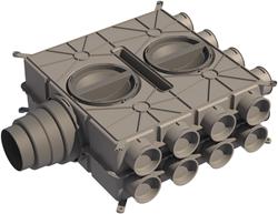 Ubbink universele luchtverdeelkast DBOX - 16 aansluitingen