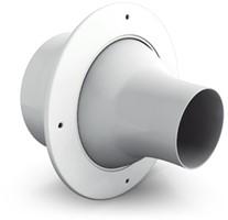 Jetroosters voor wandmontage met aansluiting op recht luchtkanaal
