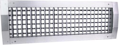Kanaalrooster dubbel instelbaar 1225x225 mm voor toevoer - spirobuis diameter 630-1400 mm
