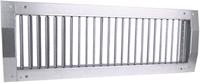 Kanaalrooster enkel instelbaar 225x75 mm voor afvoer - spirobuis diameter 160-400 mm