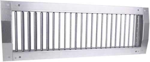 Kanaalrooster enkel instelbaar 425x125 mm voor afvoer - spirobuis diameter 315-900 mm