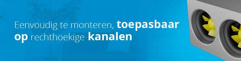 Het grootste assortiment kanaalventilatoren voor rechthoekige luchtkanalen vindt u op Ventilatieland.nl