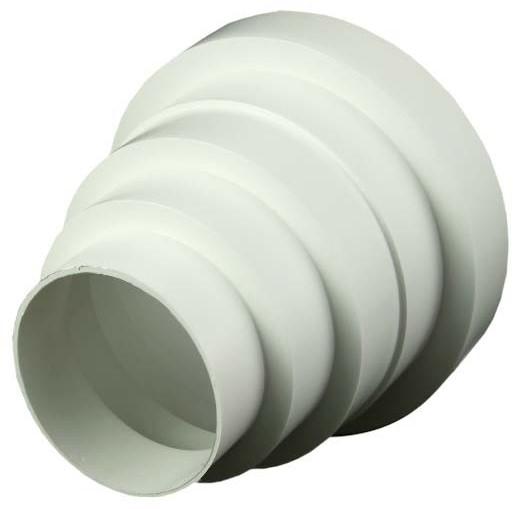 Kunststof ventilatie verloop universeel voor diameter 80 t/m 150 ...