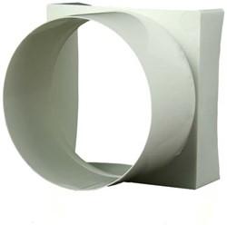 Kunststof verloopstuk vierkant-naar-rond 100x100/diameter: 100 VA91