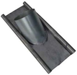 WTW HR Loodslab / loodpan voor dakdoorvoer 125mm 15 t/m 60 graden