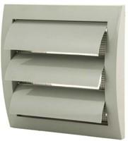 Lamellenrooster overdruk ventilatierooster 150x150 diameter: 100 grijs - ND10ZP-1