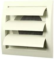 Lamellenrooster overdruk ventilatierooster 150x150 diameter: 100 wit - ND10Z