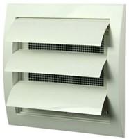 Lamellenrooster overdruk ventilatierooster 150x150 wit - N10Z-1
