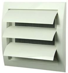 Lamellenrooster overdruk ventilatierooster 150x150 wit - N10Z
