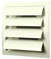 Lamellenrooster overdruk ventilatierooster 190x190 diameter: 125 wit - ND12Z-1