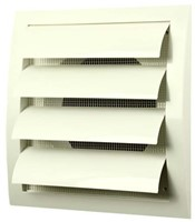 Lamellenrooster overdruk ventilatierooster 190x190 diameter: 125 wit - ND12Z