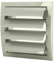 Lamellenrooster overdruk ventilatierooster 190x190 diameter: 150 grijs  - ND15ZP-1