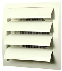 Lamellenrooster overdruk ventilatierooster 190x190 diameter: 150 wit - ND15Z