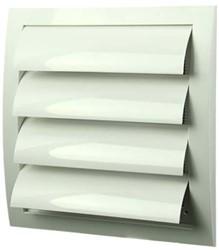 Lamellenrooster overdruk ventilatierooster 190x190 wit - N12Z