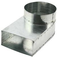 Lepe hoekstuk 165x80 - Ø150mm tbv instortkanaal-1